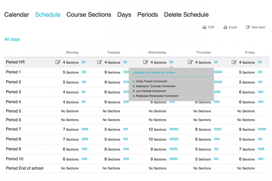 Course Setup and Scheduling Modules1